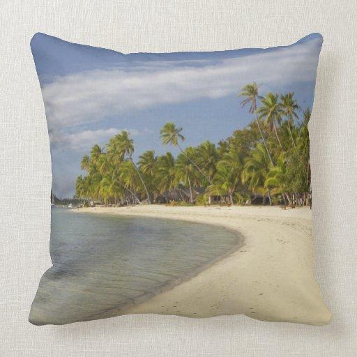 Beach and palm trees, Plantation Island Resort 2 Pillow