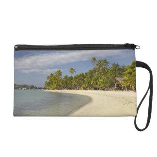 Beach and palm trees, Plantation Island Resort 2 Wristlet Purse