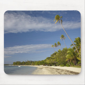 Beach and palm trees, Plantation Island Resort Mouse Pad