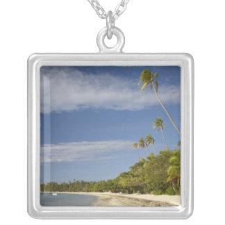 Beach and palm trees, Plantation Island Resort Pendant