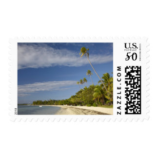 Beach and palm trees, Plantation Island Resort Postage