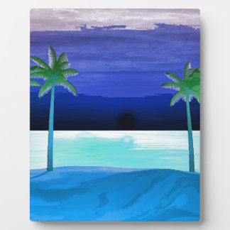Beach and Palm Trees Plaques