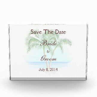 Beach And Palm Trees Wedding Save The Date Award