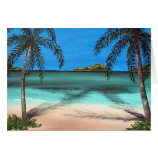 Beach and Palms Greeting Card