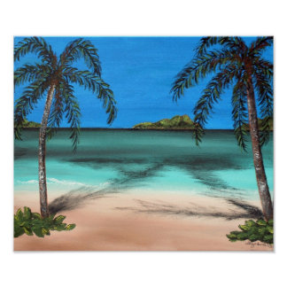 Beach and Palms Print