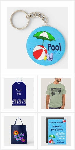 Beach and Pool Themed Designs