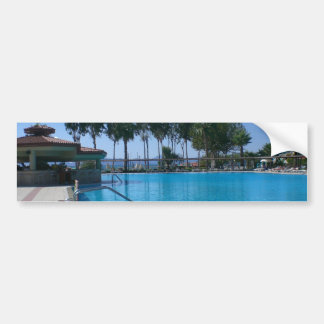 Beach and Pool Views Bumper Sticker