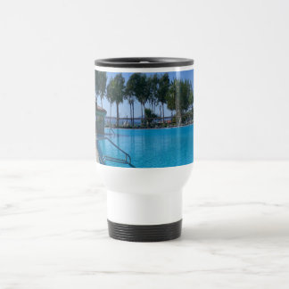 Beach and Pool Views Travel Mug