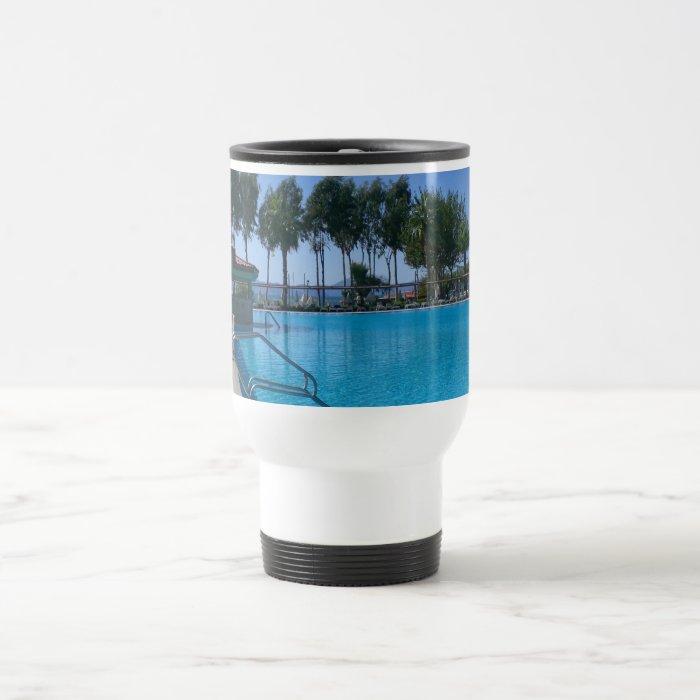 Beach and Pool Views Travel Mug