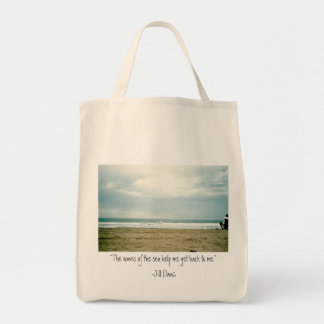 Beach  and Saying Organic Grocery Tote