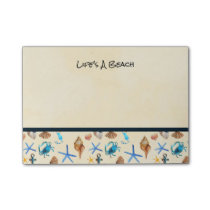 Beach And Sea Life Themed Pattern Post-it Notes