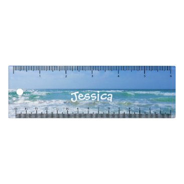 Beach Themed Beach and Sea Personalized Girly Name Ruler