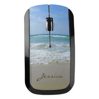 Beach and Sea Personalized Girly Name Wireless Mouse
