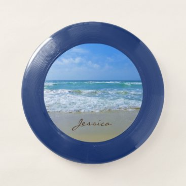 Beach Themed Beach and Sea Personalized Name Wham-O Frisbee