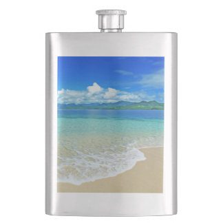 Beach and Sea Hip Flask