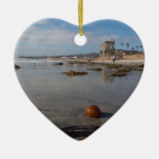 Beach and seaweed christmas ornaments