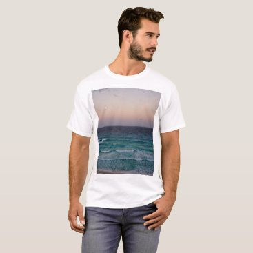 Beach Themed Beach and sky at sunset time T-Shirt