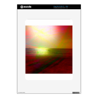 Beach and sunlight in color decals for iPad