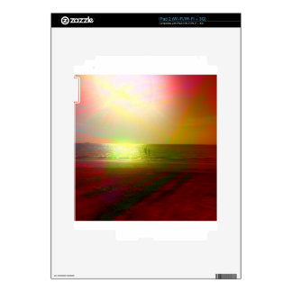 Beach and sunlight in color skins for iPad 2