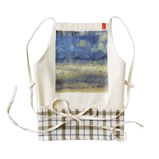 Beach and water zazzle HEART apron