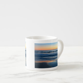 beach and waves at sunset espresso cup