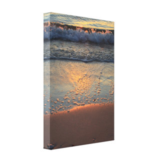 beach and waves... canvas print
