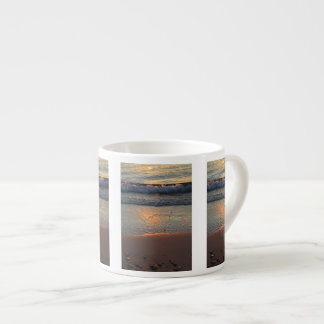 beach and waves... espresso cup