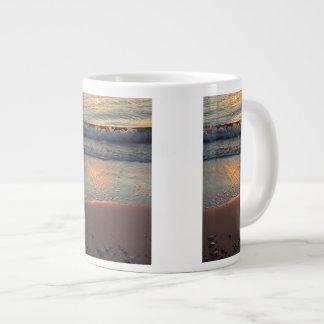 beach and waves... large coffee mug