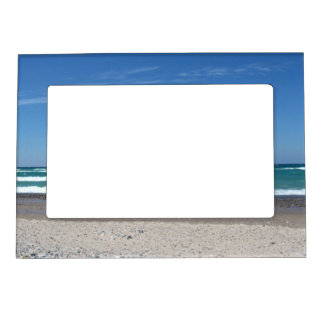 Beach and waves photo frame magnetic photo frames