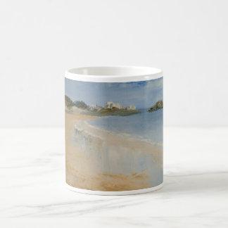 Beach and wet sand. coffee mug