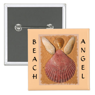 Beach Angel Button