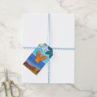 Beach Angel Holiday Custom Gift Tag Cards