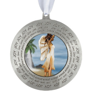 Beach Angel Round Ornament