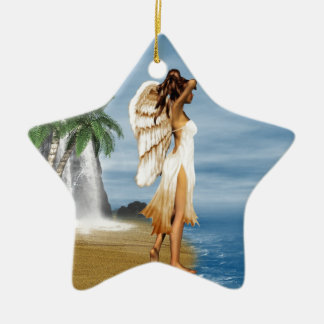 Beach Angel Christmas Ornament