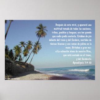 Beach — Apocalipsis 7:9-10 Poster