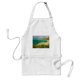 beach , adult apron