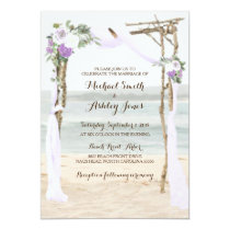 Beach Arbor Lavender Wedding Invitations