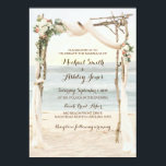 "Beach Arbor Sunset Wedding Invitation<br><div class=""desc"">Beach Arbor Sunset Wedding Invitation