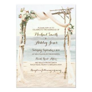 Beach Arbor Sunset Wedding Invitation