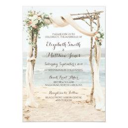 Beach Arbor Wedding Invitation