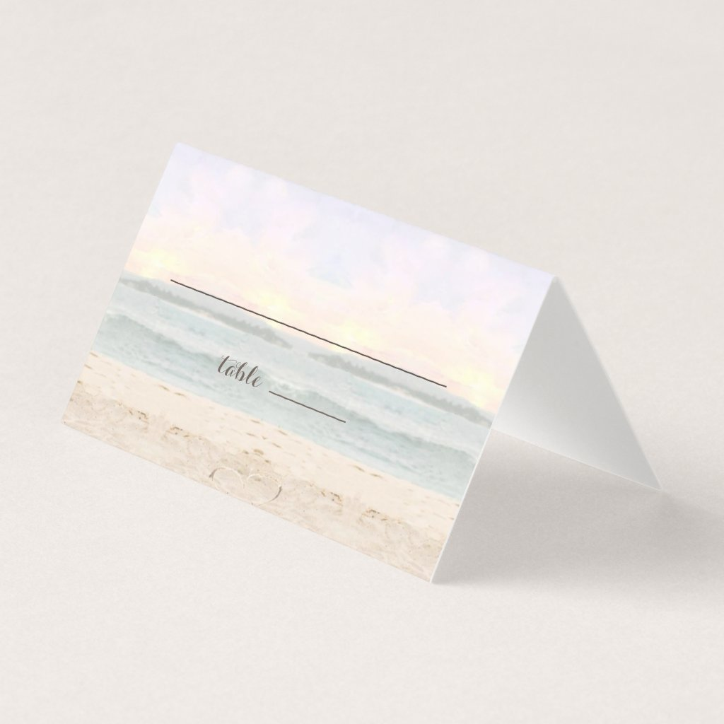 Beach Arbor Wedding Place / Escort Cards