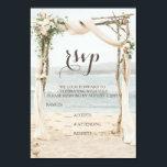 """Beach Arbor Wedding RSVP Card<br><div class=""""desc"""">Beach Arbor Wedding RSVP</div>"""