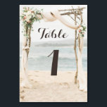 "Beach Arbor Wedding Table Number Card<br><div class=""desc"">Beach Arbor Wedding Table Number Card  Part of the Beach Arbor Wedding Collection</div>"