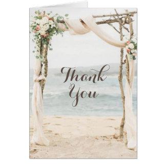 Beach Arbor Wedding Thank You Card