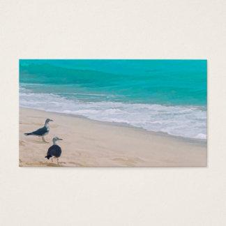 beach art business card template