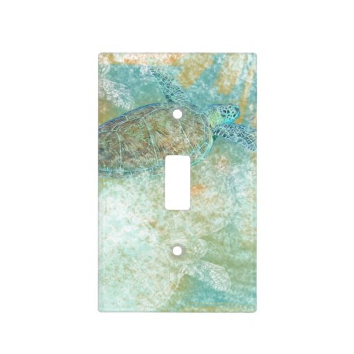 Beach Art With Sea Turtle Light Switch Cover Zazzle