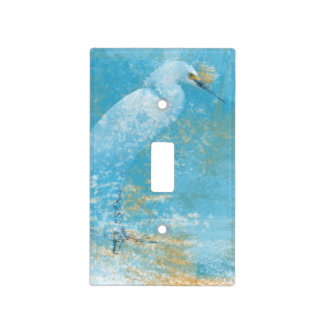 Beach Art with Snowy Egret Light Switch Cover