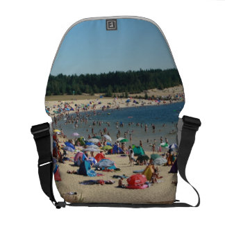 Beach ask-hung courier bag