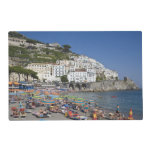 Beach at Amalfi, Campania, Italy Laminated Place Mat