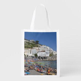 Beach at Amalfi, Campania, Italy Reusable Grocery Bags
